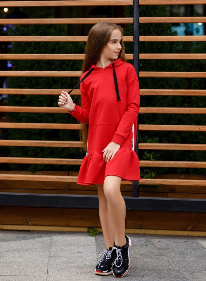 Платье LiLove 392 134 красный