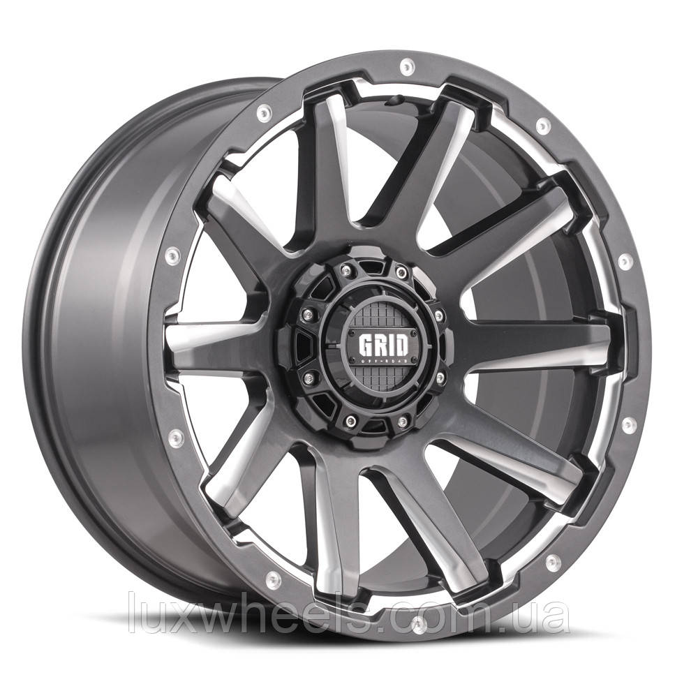 Диски GRID OFF-ROAD GD-5 Gloss Graphite Milled