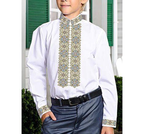 Заготовка дитячої сорочки та вишиванки для вишивки бісером для хлопчиків Бисерок «Пектораль Х-141» (Х-141)