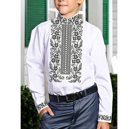 Заготовка дитячої сорочки та вишиванки для вишивки бісером для хлопчиків Бисерок «Сокальська Х-131» (Х-131)