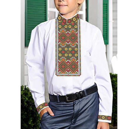 Заготовка дитячої сорочки та вишиванки для вишивки бісером для хлопчиків Бисерок «Гердан Х-116» (Х-116)