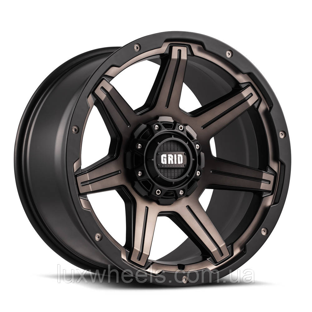 Диски GRID OFF-ROAD GD-6 Metallic Dust with Matte Black