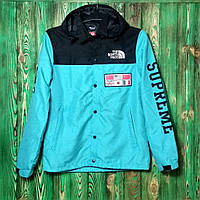 Рефлективная куртка Supreme x TNF blue/Black  (ТОП реплика), фото 1