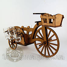 Рюмочный набор Велосипед с тележкой