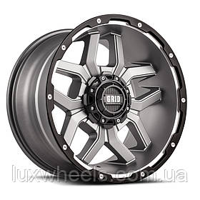 Диски GRID OFF-ROAD GD-7 Matte Anthracite Milled with Black Lip