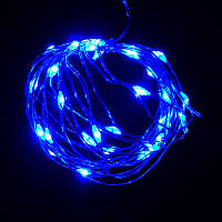 Гирлянда Нить Led 30 проволока 2 батарейки 3 м синий (1-133), фото 1