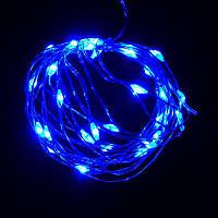 Гирлянда Нить Led 30 проволока 2 батарейки 3 м синий (1-133)