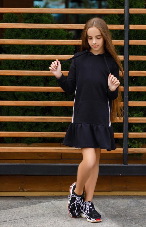 Платье LiLove 392-2 146 черный