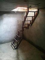 Металлокаркас небольшой лестницы в подвал или на чердак, фото 1