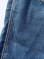 Теплые лосины (джеггинсы) БАТАЛ 019.1 (джинсовый), фото 3