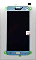 Дисплейный модуль Samsung Galaxy J7 (2017) J730F Blue Silver TFT регулируемая подсветка (5000580Bl)