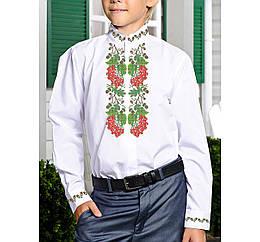 Заготовка дитячої сорочки та вишиванки для вишивки бісером для хлопчиків Бисерок «Калинова доля Х-154» (Х-154)