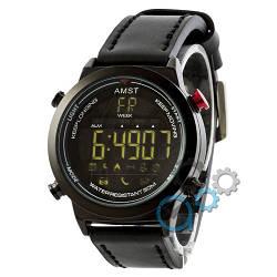 Наручные армейские часы AMST 3017 All Black, кварцевые, противоударные, армейские часы АМСТ, реплика, отличное качество!