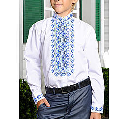 Заготовка дитячої сорочки та вишиванки для вишивки бісером для хлопчиків Бисерок «Мелодія Х-157г» (Х-157г)