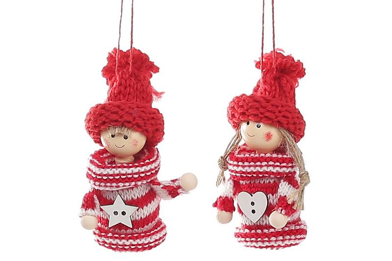 Набор новогодних украшений Bonita Куколки 2шт 9.5см, 2 вида (781-230)