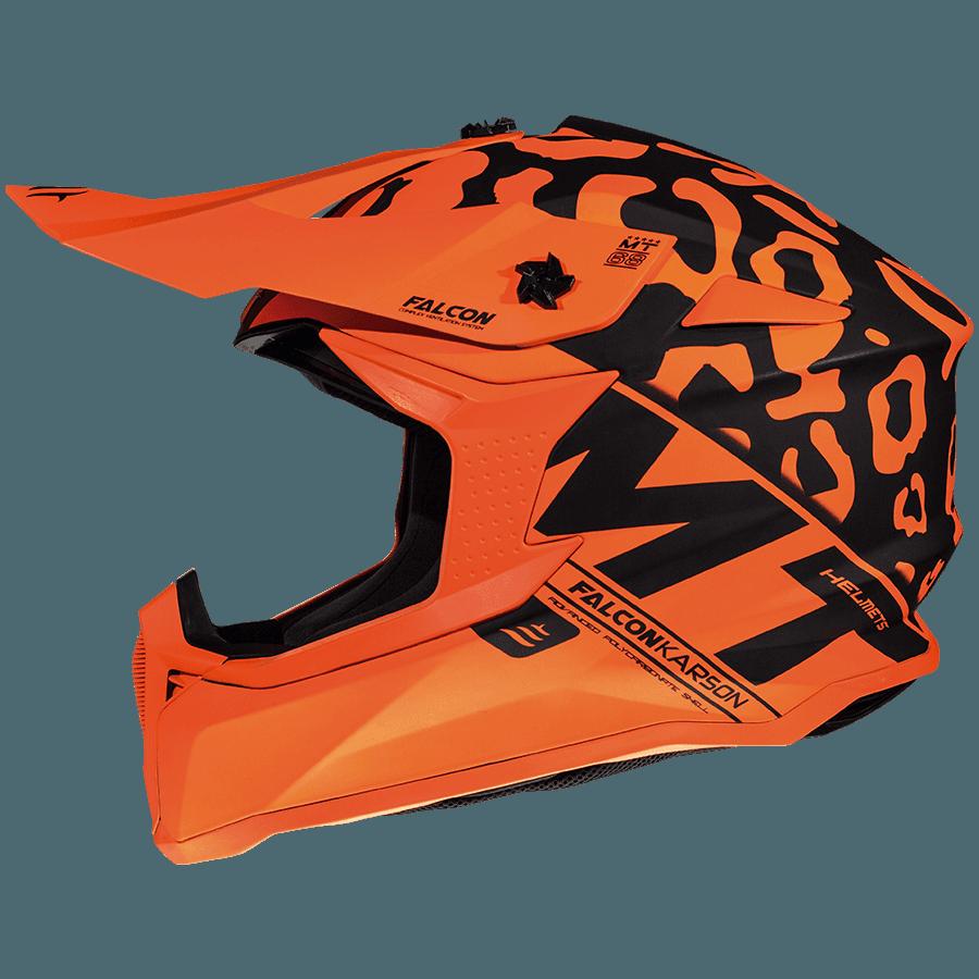Мотошлем MT Falcon Karson Matt Orange