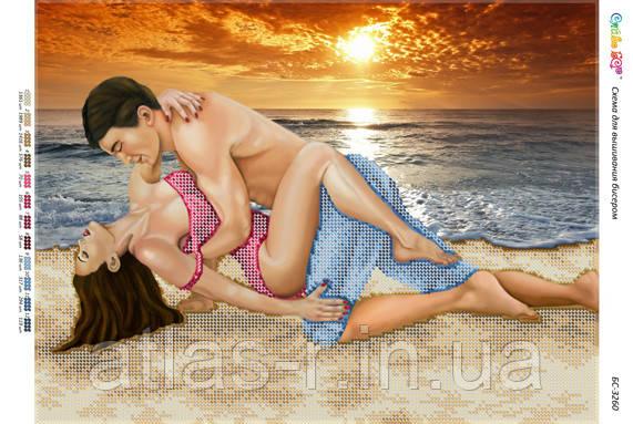 """Схема для частичной вышивки бисером """"Любов біля моря"""""""