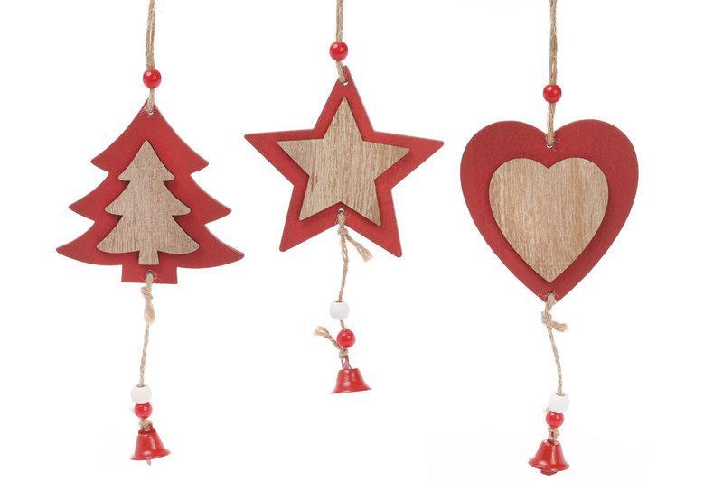 Набор новогодних украшений-подвесок Bonita 3 шт 16см (749-319)