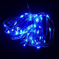 Гирлянда Нить Led 50 проволока 3 батарейки 5 м синий