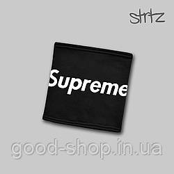 Теплый горловик Supreme черного цвета  (люкс копия)