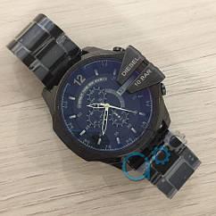Мужские наручные часы Diesel 10 Bar All Black, кварцевые, часы Дизель, реплика, отличное качество