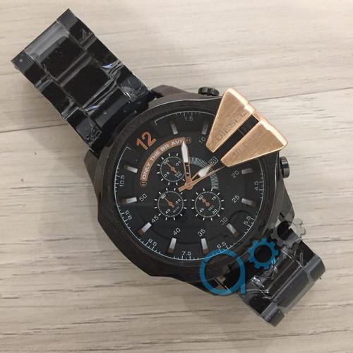 Мужские наручные часы Diesel 10 Bar Black-Gold кварцевые, часы Дизель, реплика, отличное качество