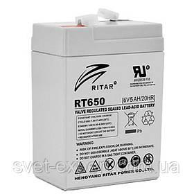 Акумулятор AGM RITAR RT650, Gray Case, 6V 5Ah ( 70х47х 99 (107) )Q20