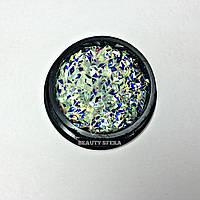 Декор для ногтей Чешуя дракона (белая) 3D