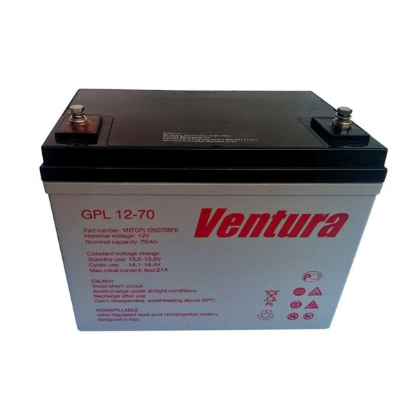 Аккумулятор AGM - 70 Ач, 12В гелевый Ventura gpl 12-70