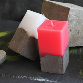 Свеча декоративная ручной работы прямоугольная