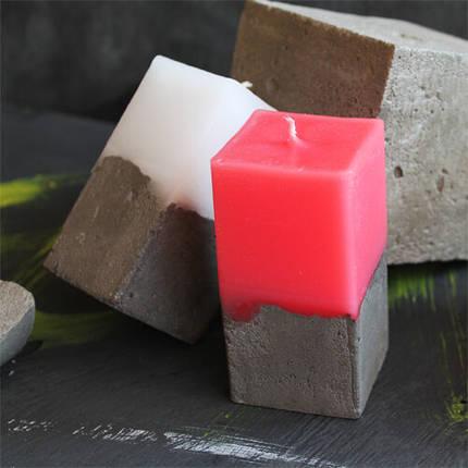 Свеча декоративная ручной работы прямоугольная, фото 2