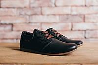 Подростковые кожаные повседневные черные туфли 10700