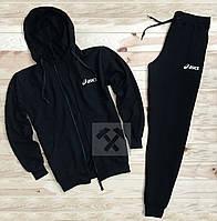 Спортивный костюм Asics черного цвета (люкс копия)
