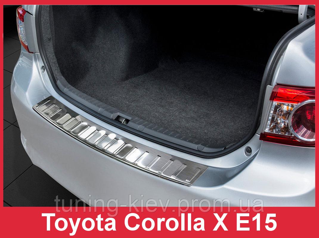 Накладка на бампер с загибом Toyota Corolla X E15