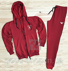 Спортивный костюм Armani красного цвета (люкс копия)