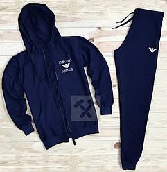 Спортивный костюм Armani синего цвета (люкс копия)