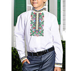 Заготовка дитячої сорочки та вишиванки для вишивки бісером для хлопчиків Бисерок «Радість Х-181» (Х-181)