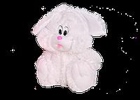 Плюшевый Зайчик Алина сидячий 35 см белый  , фото 1