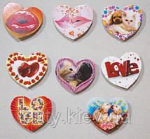 """Подарочный набор мини-открыток-сердечек """"Губы"""", """"Love"""" и """"Животные"""" (8 шт) на двухстороннем скотче (липучках)"""