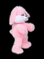 Мягкая игрушка Алина зайка Снежок 65 см розовый