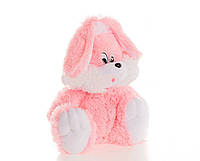 Зайчик Алина сидячий 55 см розовый, фото 1