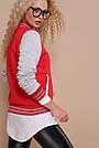 Женская кофта красного цвета  в спортивном стиле , фото 3