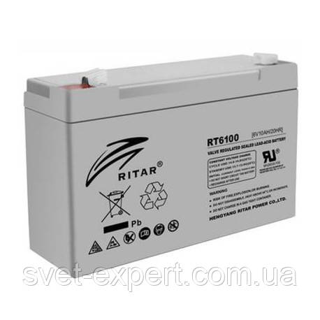 Аккумулятор AGM RITAR RT6100, Gray Case, 6V 10Ah  ( 150 х 50 х 93 (99) ) Q20