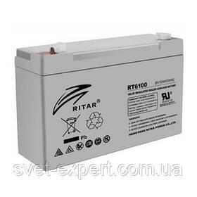 Акумулятор AGM RITAR RT6100, Gray Case, 6V 10Ah ( 150 х 50 х 93 (99) ) Q20