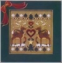 Набор для вышивки Mill Hill Reindeer Sampler (2002)