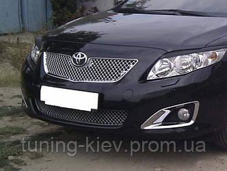 Заменяемая решетка радиатора и бампера Toyota Corolla 2007-2009 Bentley стиль хромированный АБС пластик