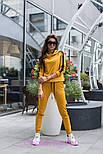 Женский стильный костюм с лампасами: кофта с капюшоном и штаны (6 цветов), фото 2