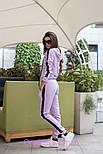 Женский стильный костюм с лампасами: кофта с капюшоном и штаны (6 цветов), фото 3