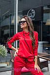 Женский стильный костюм с лампасами: кофта с капюшоном и штаны (6 цветов), фото 4