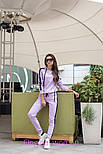 Женский стильный костюм с лампасами: кофта с капюшоном и штаны (6 цветов), фото 5